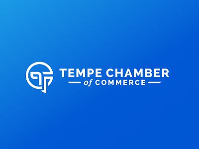 Tempe Chamber of Commerce chamber sun moon abstract brand identity monogram logo branding