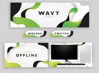 Wavy theme - Twitch overlay vector ui twitch.tv twitch overlay twitch stream overlay streaming illustration graphic design freelance designer