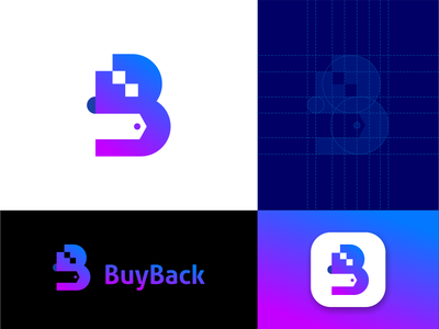 B Mark symbol mark apps logo grid design logo for sale logo letter interface communication symbol identity minimalist logo app idenity modern logo logo design buy logo block chain logo design business logo b mark logo branding