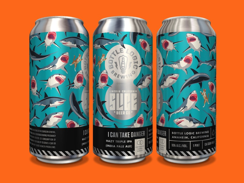 Bottle Logic I Can Take Danger Cans design beer can craft beer packaging design illustration