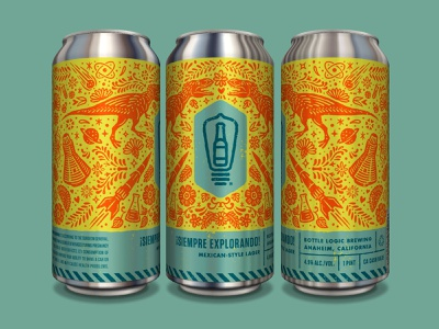 Bottle Logic Siempre Explorando Can craft beer design packaging design