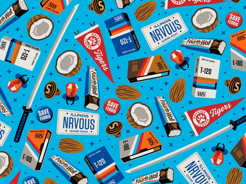 Bottle Logic The Fourth Wall Illustrations packaging design craft beer illustration