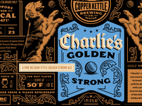 Copper Kettle Charlie's Golden Strong Label