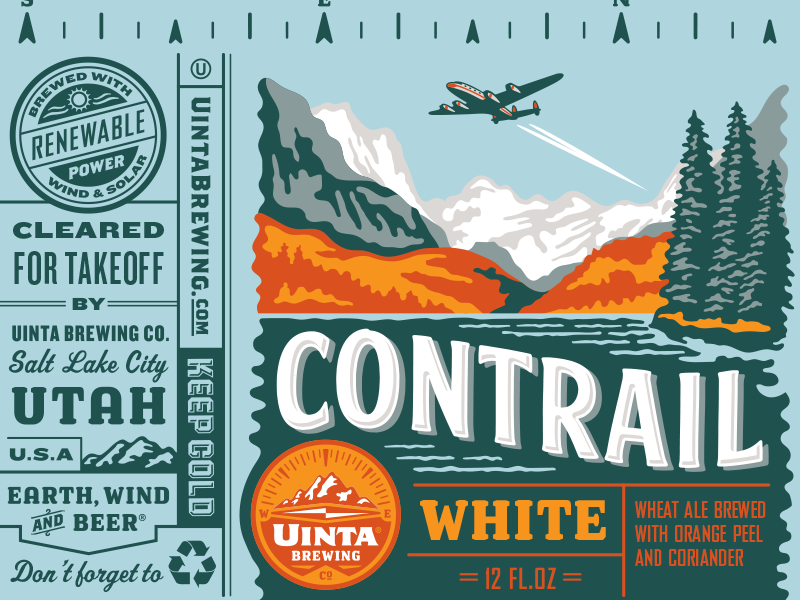 Uinta Contrail White Beer - Rejected 2 beer can illustration packaging design craft beer rejected designs rejects