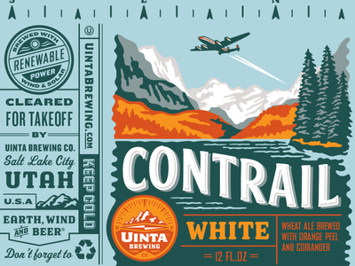 Uinta Contrail White Beer - Rejected 2