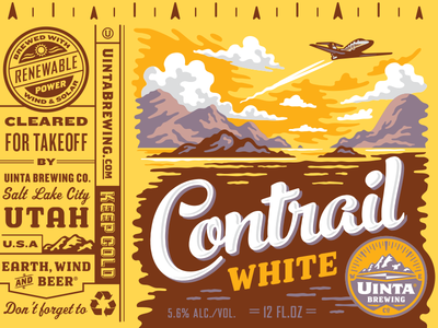 Uinta Contrail White Beer - Rejected 4 beer can illustration packaging design craft beer rejected designs rejects