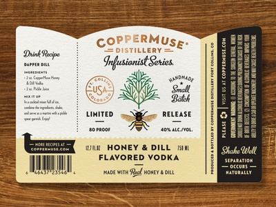 CopperMuse Honey Dill Vodka