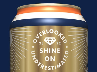 Undrafted IPA Can Detail packaging design diamond identity design brawl super bowl broncos craft beer