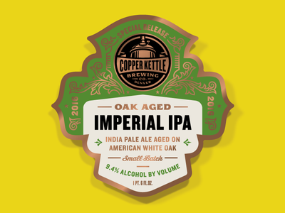 Copper Kettle Special Release Oak Aged Imperial IPA