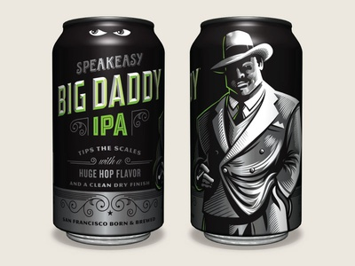 Speakeasy Big Daddy IPA Can beer can cans can craft beer design aleillustrationpackaging pale cansgangsteripaindia beer