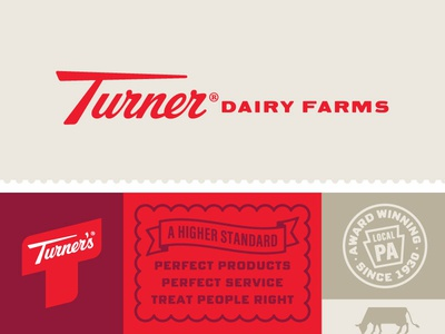 Turner's Brand Identity pennsylvania milk cow dairy mission certificate seal trademark icon branding brand identity