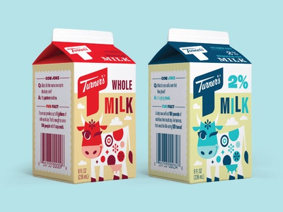Turner's School Milk Cartons