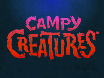 Campy Creatures Logotype – Mummy Brush monsters brush lettering typography custom type logotype game art