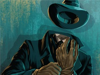 Campy Creatures Invisible Man Illustration