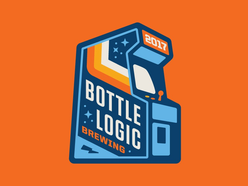 Bottle Logic Brewing Alternate Arcade Logo By Emrich