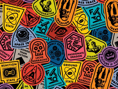 Bottle Logic Stasis Project Stickers poster iconography craft beer stickers labels beer