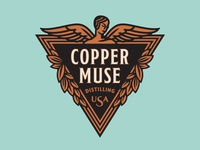 CopperMuse Distillery Logo - Abandoned Concept