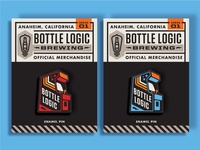 Bottle Logic Enamel Pins