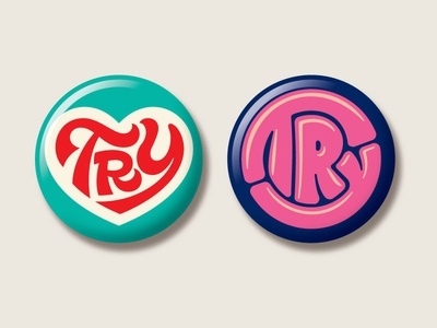 "Mandy Harvey ""Try"" Lettering & Buttons"