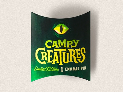 """Campy Creatures Enamel Pin """"Blind Box"""" limited edition horror creatures monsters pins enamel pin"""