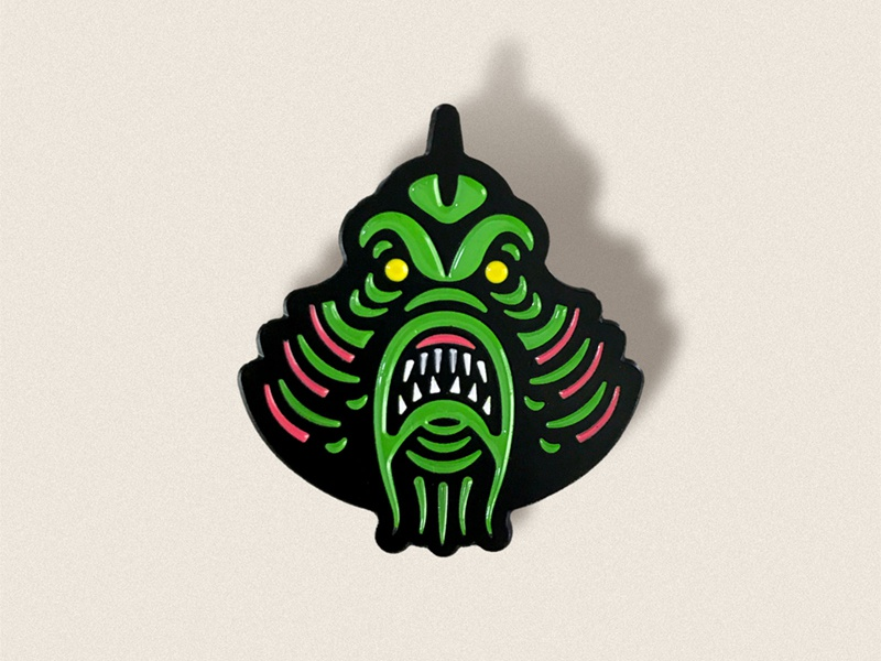 Campy Creatures Swamp Creature Enamel Pin pin illustration the creature swamp creature enamel pin mystery pin blind box