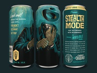 Bottle Logic Campy Creatures Stealth Mode Tart Ale pulp illustration game art glassware beer can craft beer campy creatures invisible man