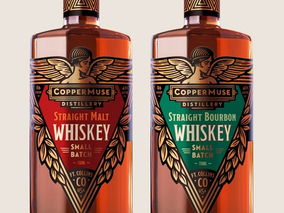 CopperMuse Whiskey illustration packaging design moonshine craft distilling spirits packaging bourbon whiskey