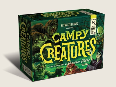 Campy Creatures Game illustration board games table top games