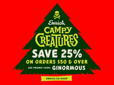 Campy Creatures Holiday Sale campy creatures cybermonday
