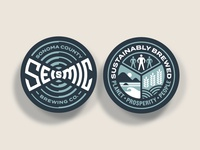 Seismic Brewing Co. Logo & Sustainability Badge