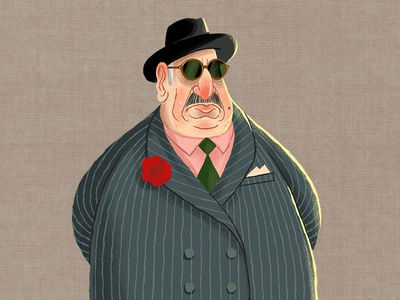 Caper Thief - The Don (6/24) game design godfather don game art card game character illustration thief character design