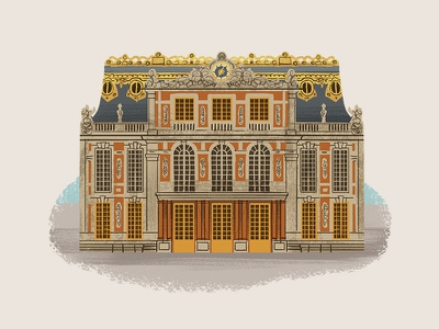 Caper Districts - Versailles (5/23) illustration game art palace versailles
