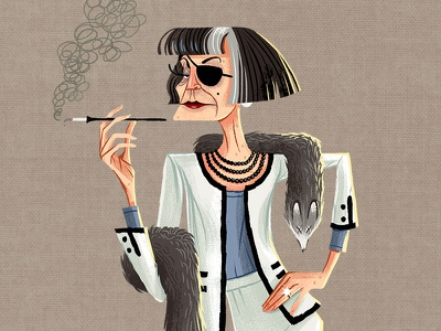 Caper Thief - The Madamme (9/24) thief paris character design madame fashion illustration game art