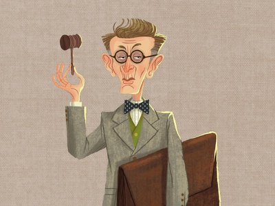 Caper Thief - The Auctioneer (13/24) character design game art auctioneer character illustration