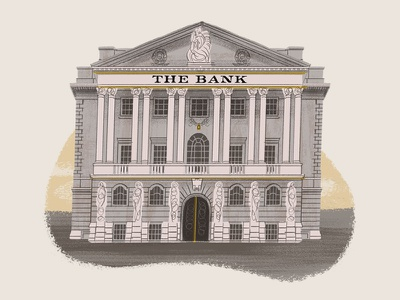 Caper Districts - The Bank (14/23) illustration game art bank