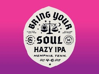 Creative Works - Bring Your Soul Hazy IPA - Badge