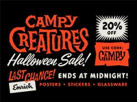 Campy Creatures Halloween 2018 Sale