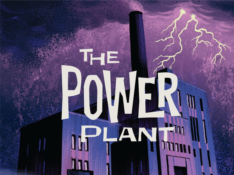 Campy Creatures Locations (8/9) - The Power Plant pulp illustration vintage horror classic horror power plant game art card game boardgames pulp art illustration