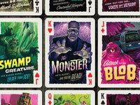 Campy Creatures Deadluxe Playing Cards - Faces