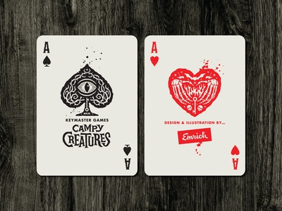 Campy Creatures Deadluxe Playing Cards - Aces