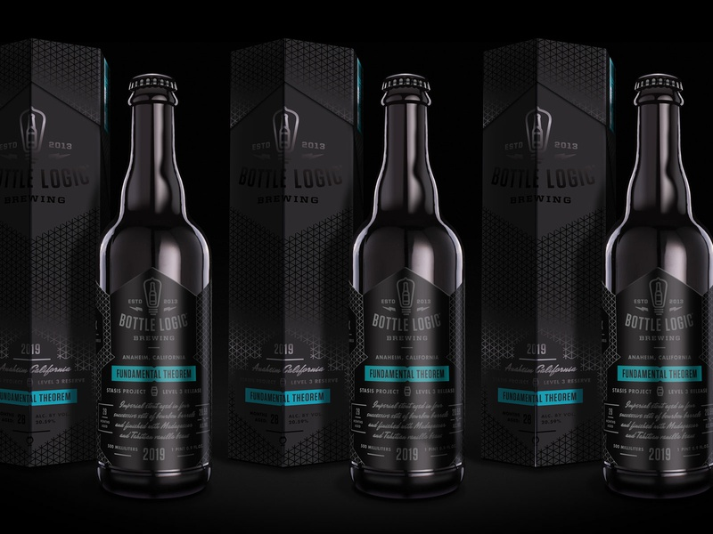 Bottle Logic Fundamental Theorem independent beer branding murdered out craft beer packaging design