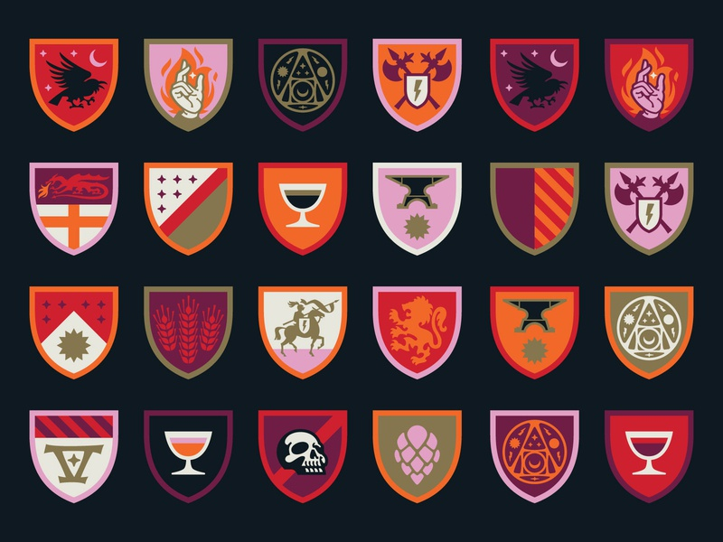 Bottle Logic 2019 Week of Logic Sigils medieval sigil shield icon design iconography illustration craft beer