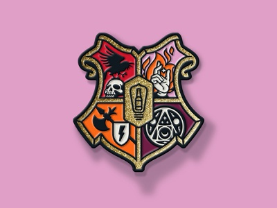 Bottle Logic 2019 Week of Logic Crest Pin enamel pin enamelpin sigil crest medieval illustration craft beer
