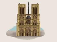 Notre Dame Illustration from Caper