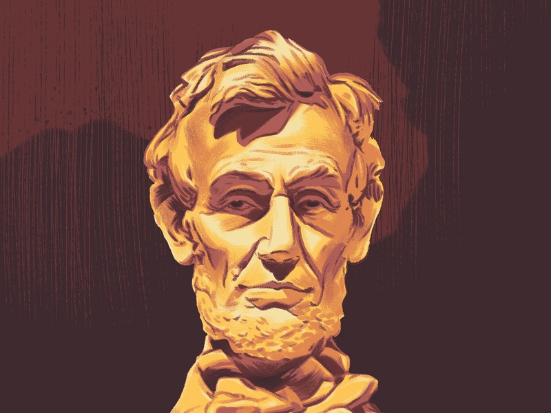 Fifty-Nine Parks Print Series: Lincoln Memorial national park lincoln memorial abraham lincoln lincoln national parks illustration