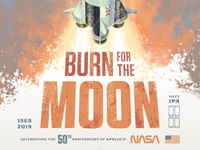 Bottle Logic Burn for the Moon Hazy IPA Poster