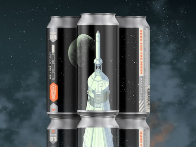 Bottle Logic Burn for the Moon Hazy IPA Cans