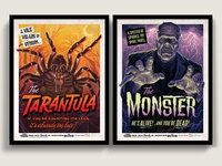 Campy Creatures Tarantula & Monster Screen Prints
