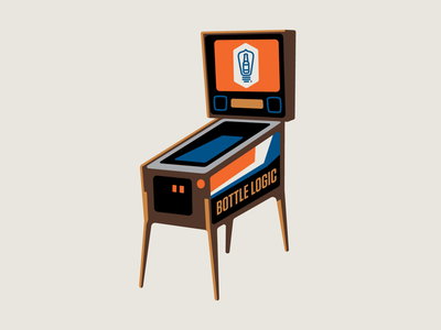 Bottle Logic Pinball Illustration