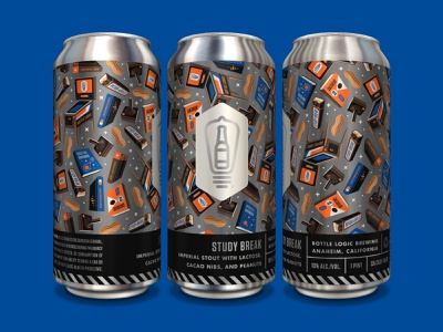 Bottle Logic Study Break Cans print branding packaging design craft beer